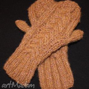 cieplusie rękawiczki - wełniane, jednopalczaste
