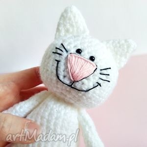 handmade dla dziecka kotek z uśmiechem