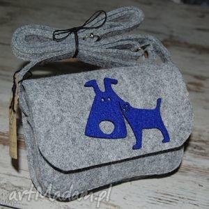 torebeczka filcowa, torebeczka, pies, pieskiem, szara, chaber, prezent na