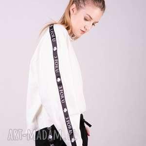 Bluzka sportowa z lampasem MONICA-Ecri, bluzki, spodnie, t-shirt, bluzy, sukienki,