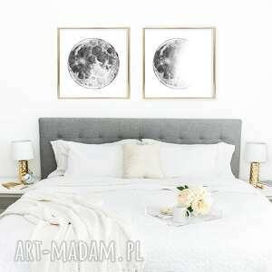 zestaw 2 prac 50x50cm, księżyc, moon, plakat, sztuka, obraz, plakaty