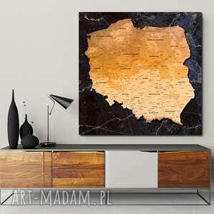 tablica korkowa mapa polski nr 3 obraz 50x50 pinezki dla ludzi kochających