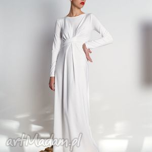 cristina maxi - długa suknia rozm 34-40, jersey, długa, draperia, elegancka