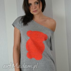 koszulka ręcznie malowana - miś pomarańczowy od fresh lemon, ciekawa