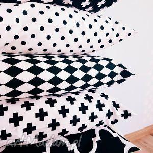 komplet poduszek skandynawskich 5 sztuk - ,poduszki,poduszka,jasiek,poszewka,czarna,biała,