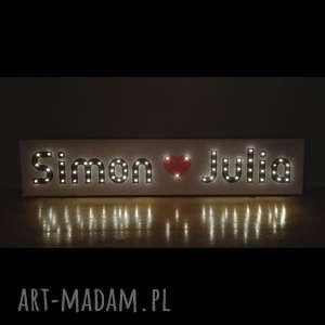 obraz led dla zakochanych par walentynki prezent dekoracja wesela