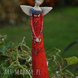święta, anioł ceramiczny, ręcznie wykonany