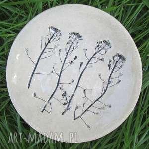 roślinny malutki talerzyk, roślinny, ceramiczny podstawka