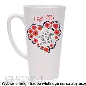 kubki kubek trzeba wielkiego serca z twoim imieniem, kubek, latte, filiżanka