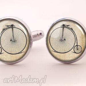 egginegg retro rower - spinki do mankietów, męskie, vintage