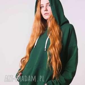 Bluza damska Zielona butelka, bawełna, wygoda, luz, desing, moda, nietuzinkowe