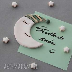magnesy księżyc i gwiazdki-magnesy ceramika, prezent, minimalizm, skandynawski