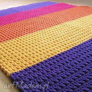 dywan tęczowy dla p moniki, dywan, chodnik, pasy, sznurek, bawełniany