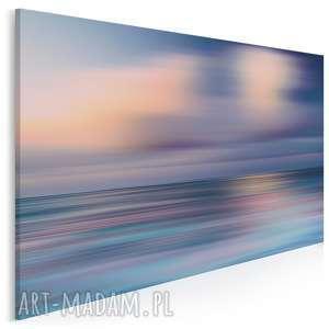obraz na płótnie - abstrakcja morze 120x80 cm 36501, morze, mgła, rozmycie
