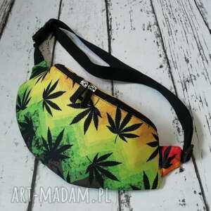 nerka,saszetka,torebka, nerka, saszetka, torebka w liście marihuan, hippi, rasta