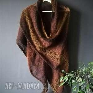 hand-made szaliki duża chusta merino&kidmohair