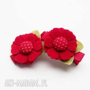 handmade ozdoby do włosów spinki kwiatki
