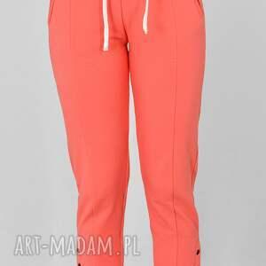 spodnie skinny gloria koral, dresowe, sukienki dzianinowe, komplety