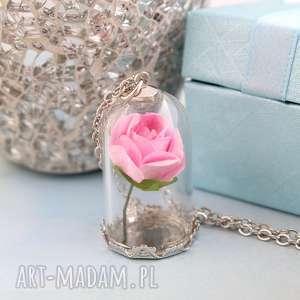 naszyjnik róża - róża, klosz, łańcuszek, książe, uroczy
