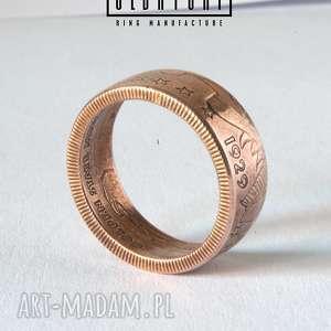 indian - rękodzielniczy pierścień zaręczynowy, boho, miedź, prezent