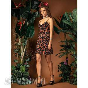 jennifer mini - slip dress sukienka, panterkowa, letnia, mini