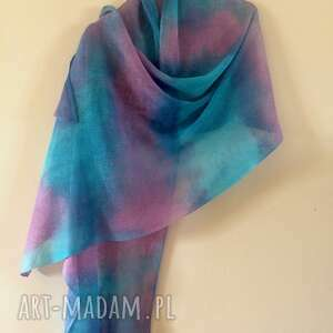 Anna Damzyn: Lniany szal pastelowy