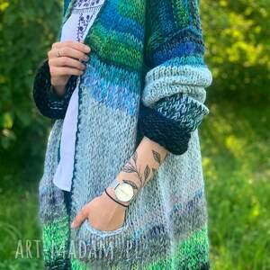 swetry multikolor kardigan, sweter, kardigan, nadrutach, koloroway