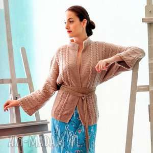 Sweter caen swetry b a o l sweter, kardigan, wełniany, prezent