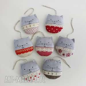 świąteczny prezent kocie bombki, kot, kotki, koty, ozdoby, choinkowe