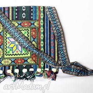 Hmong, dymanicznie, kolorowo, etnicznie torebki ruda klara torba