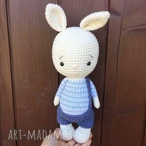 szydełkowy króliczek eryczek, babyshower, narodziny, prezent, urodziny, chrzest
