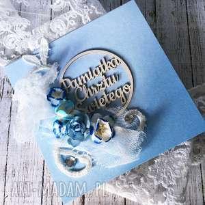 kartka na chrzest Święty dla chlopca - chrzest, prezent, kartka, życzenia