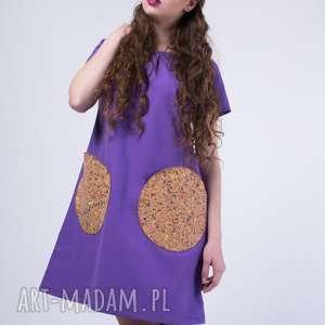 ręcznie robione sukienki skinfish lavender, bawełniana, lawendowa sukienka korek:)