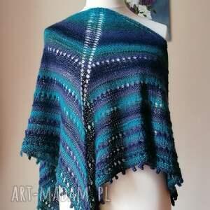 ręcznie wykonane chustki i apaszki turquoise większa chusta
