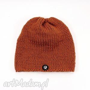 ręcznie dziergana czapka unisex - dziergana, czapka, głowa, unisex, zima