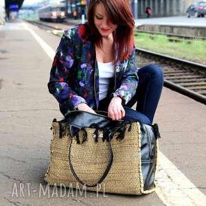 84fa64b09aeab handmade podróżne torba podróżna brązowa pojemna na weekend