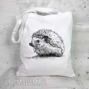 hand made eko torba na zakupy - jeż