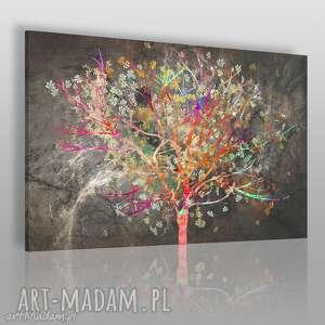 Obraz na płótnie - DRZEWO LIŚCIE KOLOROWY 120x80 cm (70401), drzewo, kolorowy