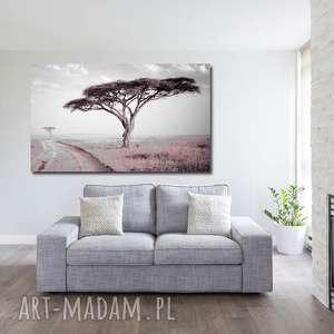 obraz drzewo 31 róż - 120x70cm do salonu afryka, drzwo, obraz, salonu