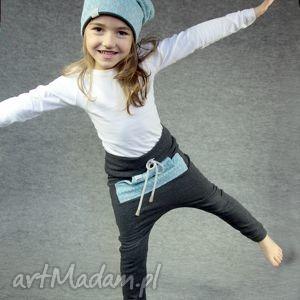 spodnie tajfun turkusowy - dres, spodnie, wygodne, przedszkole, szkoła