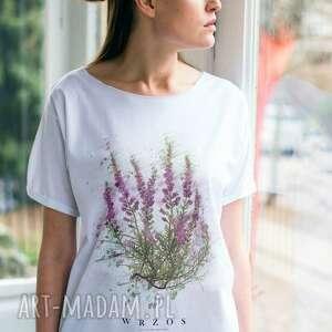 handmade koszulki wrzos t-shirt oversize