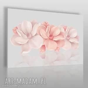 obraz na płótnie - kwiaty różowy 3d 120x80 cm 58201, kwiaty, kwiat, 3d, rośliny