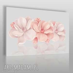handmade obrazy obraz na płótnie - kwiaty różowy 3d - 120x80 cm (58201)