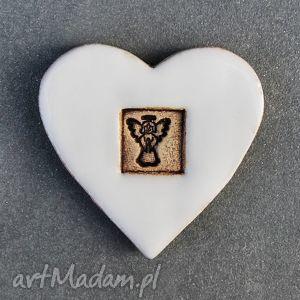 magnes ceramiczny serduszko , magnesy, ceramiczne, serduszko, serce, walentynki