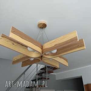 lampa fornirowana z naturalnym wyrazem drewna 85x85cm, etsy, sklejka, fornir