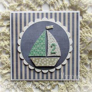 kartka dla małego żeglarza, kartka, żaglówka, urodziny, chłopiec
