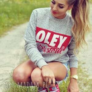 oley system bluza szara kropkowana modna i niepowtarzalna, bluza, polska, sportowa