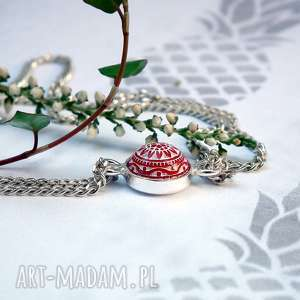 handmade bransoletka ze srebra i mozaiki