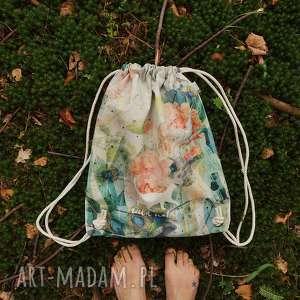 Prezent WILD NATURE plecak / worek torba - płócienna, wakacje, prezent, bawełna