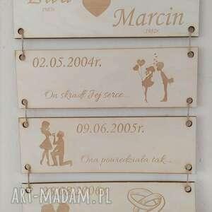 grawerowane tabliczki historia miłości, historia, pamiątka, ślubu